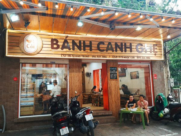 Review bánh canh ghẹ Quang Trung